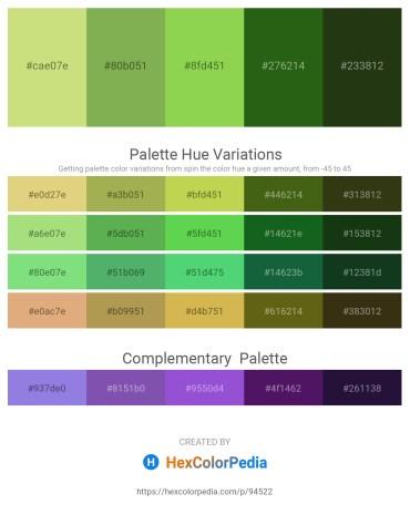 Palette image download - Yellow Green – Dark Khaki – Yellow Green – Forest Green – Dark Olive Green