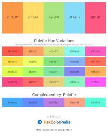 Palette image download - Coral – Violet – Light Green – Light Sky Blue – Salmon