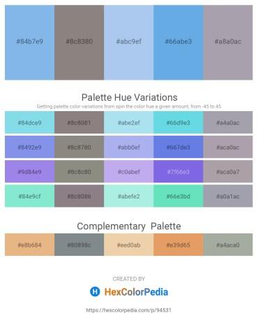 Palette image download - Sky Blue – Gray – Sky Blue – Cornflower Blue – Light Slate Gray