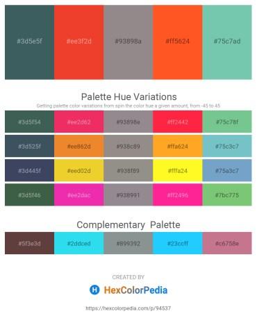Palette image download - Dark Slate Gray – Crimson – Gray – Tomato – Medium Aquamarine