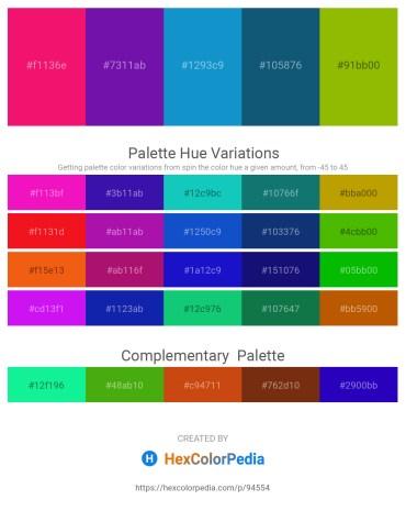 Palette image download - Deep Pink – Dark Violet – Dark Slate Gray – Slate Gray – Olive