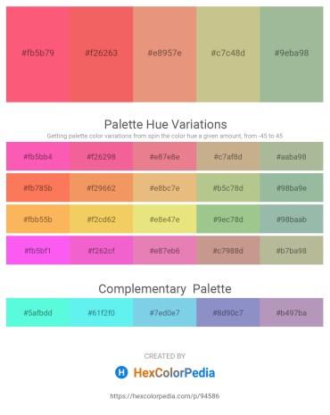 Palette image download - Salmon – Salmon – Dark Salmon – Tan – Dark Sea Green