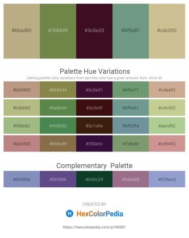 Palette image download - Dark Khaki – Dark Olive Green – White Smoke – Cadet Blue – Tan