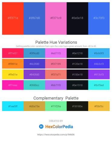 Palette image download - Orange Red – Royal Blue – Violet – Black – Royal Blue