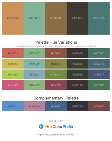 Palette image download - Peru – Dark Sea Green – Chocolate – Forest Green – Dark Slate Gray