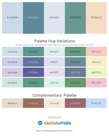 Palette image download - Light Steel Blue – Cadet Blue – Light Steel Blue – Cadet Blue – Wheat