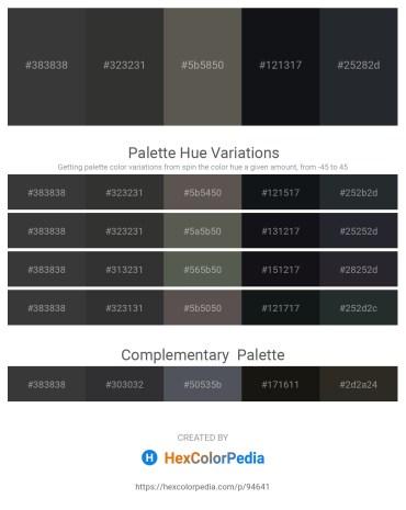 Palette image download - Dim Gray – Black – Dim Gray – Alice Blue – Dark Slate Gray