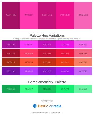 Palette image download - Medium Violet Red – Deep Pink – Medium Violet Red – Deep Pink – Hot Pink