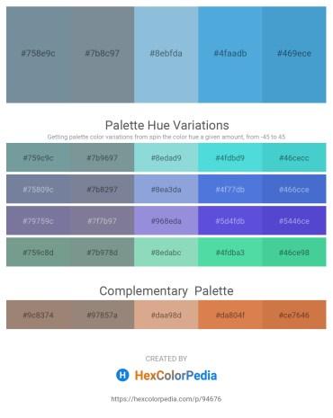Palette image download - Light Slate Gray – Light Slate Gray – Light Blue – Light Salmon – Peru