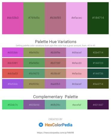 Palette image download - Pale Violet Red – Dark Sea Green – Rosy Brown – Violet – Sienna