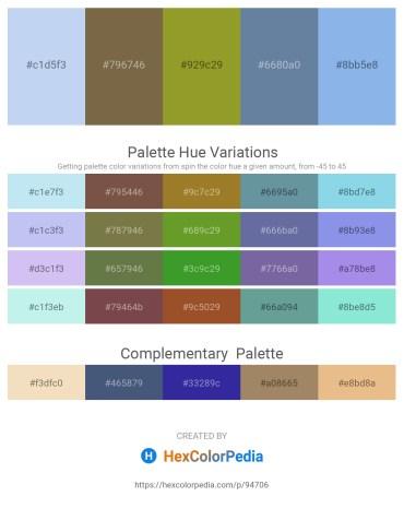 Palette image download - Pale Turquoise – Dark Olive Green – Olive Drab – Light Slate Gray – Sky Blue