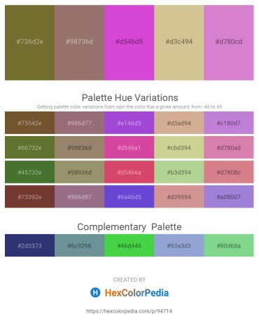 Palette image download - Dark Olive Green – Gray – Orchid – Tan – Orchid