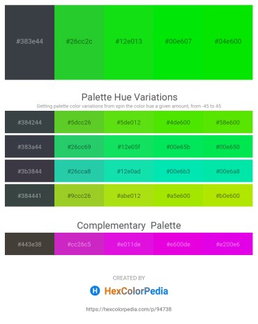 Palette image download - Dark Slate Gray – Lime Green – Lime – Black – Lime