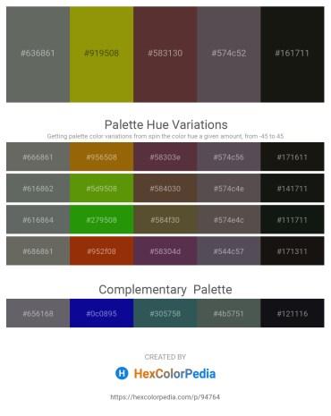 Palette image download - Dim Gray – Olive – Dark Slate Gray – Dim Gray – Black