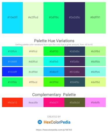 Palette image download - Aqua – Lemon Chiffon – Spring Green – Dark Slate Blue – Pale Green