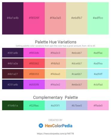 Palette image download - Midnight Blue – Hot Pink – Light Coral – Beige – Aquamarine