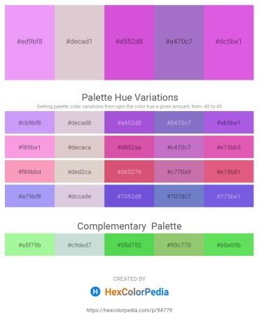 Palette image download - Violet – Thistle – Medium Orchid – Medium Purple – Medium Orchid