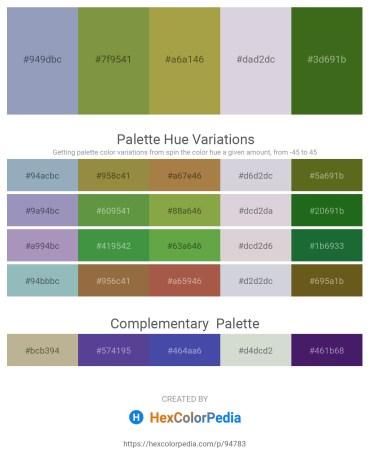 Palette image download - Light Slate Gray – Dark Olive Green – Dark Khaki – Light Steel Blue – Forest Green