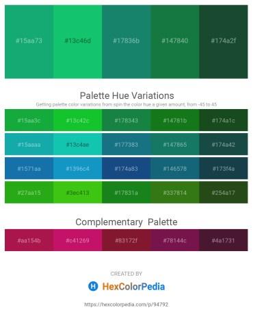 Palette image download - Light Sea Green – Light Sea Green – Sea Green – Forest Green – Sea Green