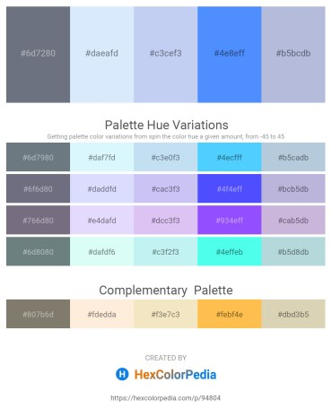 Palette image download - Slate Gray – Alice Blue – Lavender – Dodger Blue – Light Steel Blue