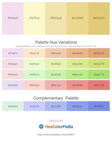Palette image download - Plum – Light Goldenrod Yellow – Pale Goldenrod – Khaki – Burlywood
