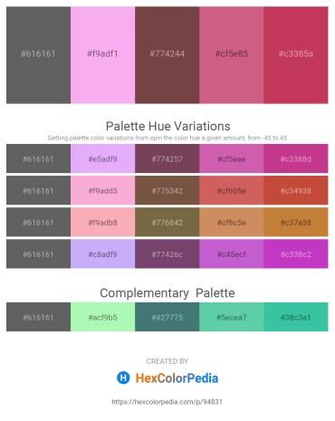 Palette image download - Dim Gray – Violet – Dark Slate Gray – Pale Violet Red – Indian Red