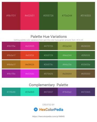 Palette image download - Firebrick – Crimson – Dark Olive Green – Brown – Dark Olive Green