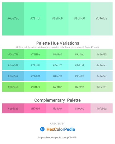 Palette image download - Light Green – Aquamarine – Aquamarine – Aquamarine – Powder Blue