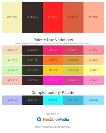 Palette image download - Wheat – Black – Red – Peru – Light Salmon