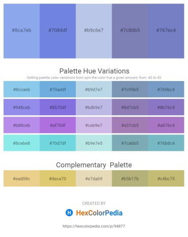 Palette image download - Sky Blue – Medium Purple – Light Steel Blue – Light Slate Gray – Slate Blue
