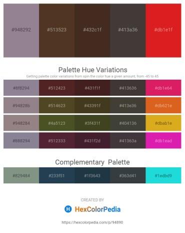 Palette image download - Gray – Wheat – Peru – Dim Gray – Crimson