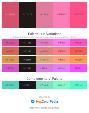 Palette image download - Indian Red – Black – Pale Violet Red – Hot Pink – Hot Pink