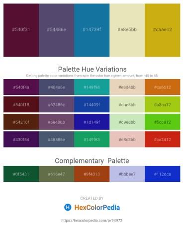 Palette image download - Aqua – Dark Slate Blue – Medium Violet Red – Beige – Goldenrod