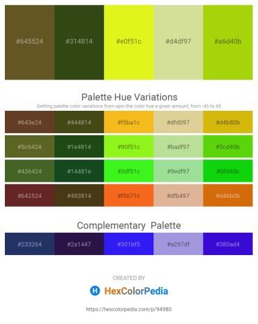 Palette image download - Dark Olive Green – Dark Olive Green – Yellow – Burlywood – Lawn Green