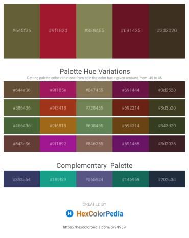 Palette image download - Dark Olive Green – Firebrick – Dark Olive Green – Dark Khaki – Dark Sea Green