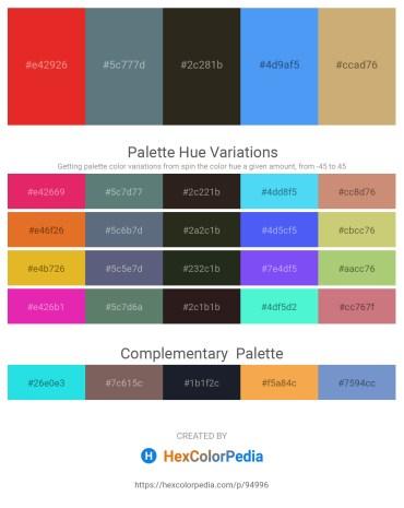 Palette image download - Crimson – Slate Gray – Chocolate – Cornflower Blue – Tan