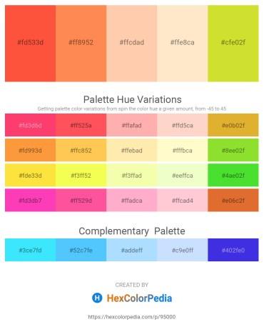 Palette image download - Tomato – Coral – Peach Puff – Blanched Almond – Dark Sea Green