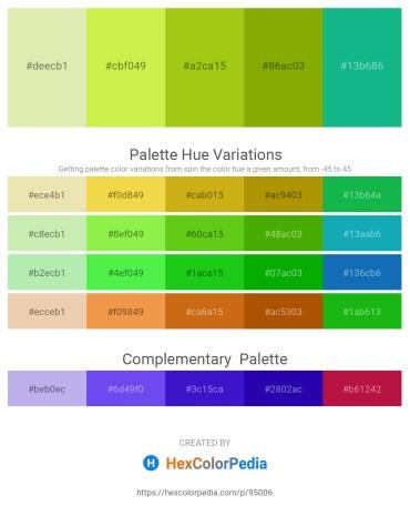 Palette image download - Pale Goldenrod – Green Yellow – Dark Khaki – Olive – Light Sea Green
