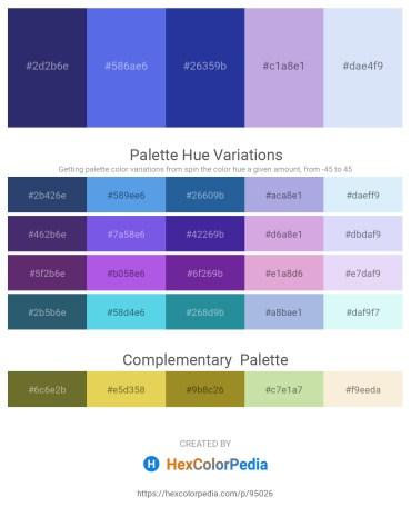 Palette image download - Dark Slate Blue – Royal Blue – Midnight Blue – Light Steel Blue – Lavender