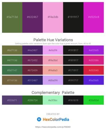 Palette image download - Dark Olive Green – Dark Slate Blue – Violet – Black – Medium Violet Red