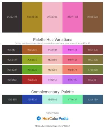 Palette image download - Black – Peru – Dark Khaki – Violet – Gray