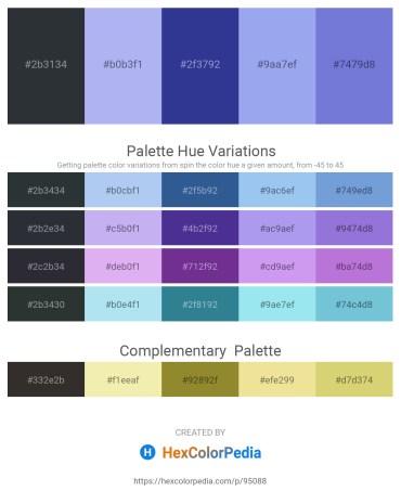 Palette image download - Dark Slate Gray – Sky Blue – Dark Slate Blue – Sky Blue – Medium Purple