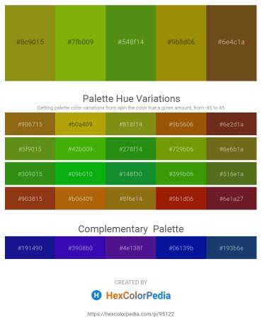 Palette image download - Olive Drab – Olive – Olive Drab – Dark Goldenrod – Saddle Brown