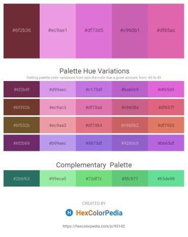 Palette image download - Brown – Violet – Orchid – Orchid – Pale Violet Red