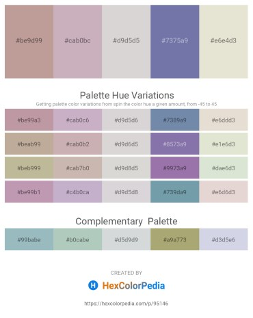 Palette image download - Rosy Brown – Thistle – Light Gray – Light Slate Gray – Beige