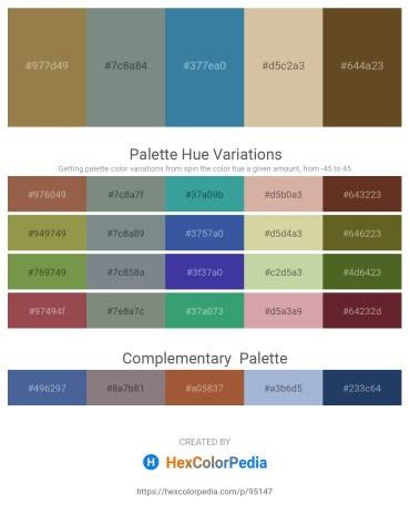 Palette image download - Dark Khaki – Slate Gray – Steel Blue – Tan – Orchid
