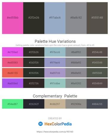 Palette image download - Hot Pink – Black – Light Steel Blue – Light Slate Gray – Dim Gray