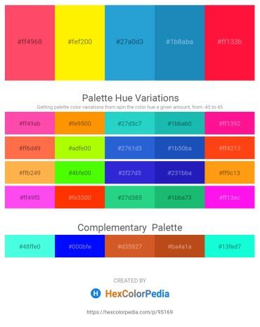 Palette image download - Tomato – Yellow – Peru – Green Yellow – Red
