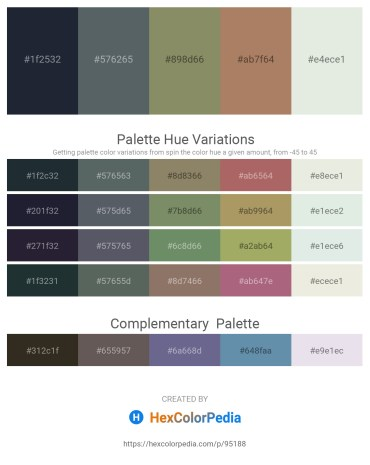 Palette image download - Dark Slate Gray – Slate Gray – Gray – Rosy Brown – Beige