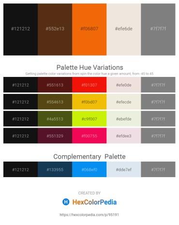 Palette image download - Black – Saddle Brown – Orange Red – Beige – Gray